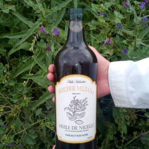 Bouteille 1 litre huile de nigelle Meziana