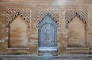 Mur avec décoration arabe